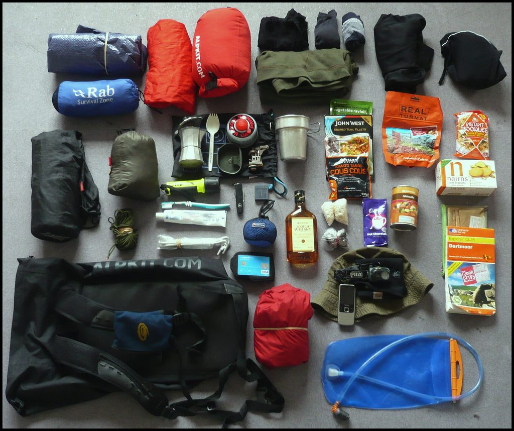 Packing list for hut to hut hiking in Switzerland