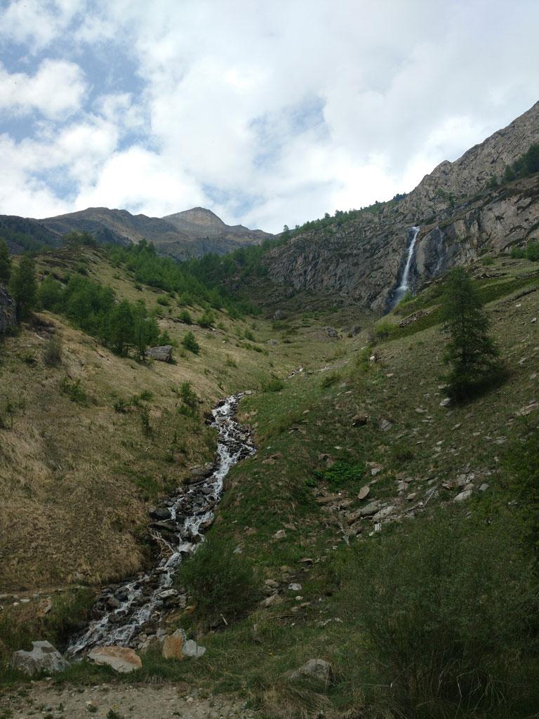 Täsch waterfall