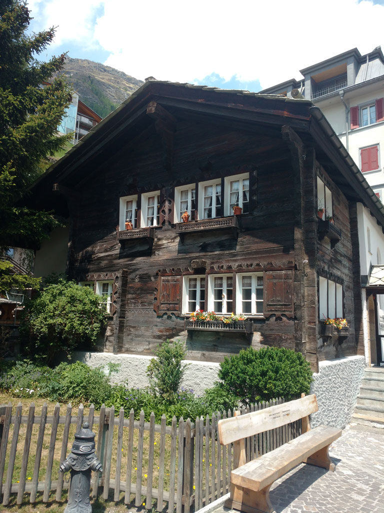 Traditional Swiss Hut in Zermatt