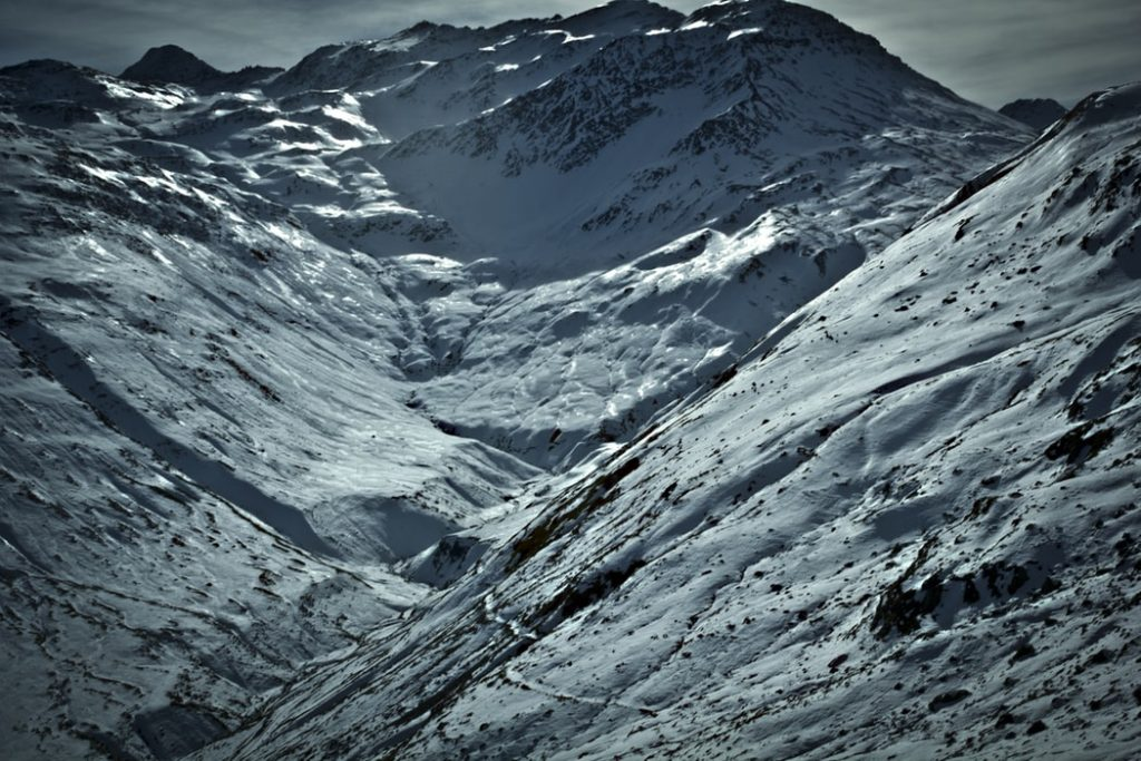 Grimsel Pass in winter