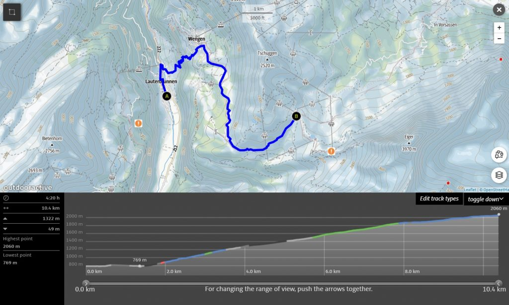 Hike from Lauterbrunnen to Kleine Scheidegg