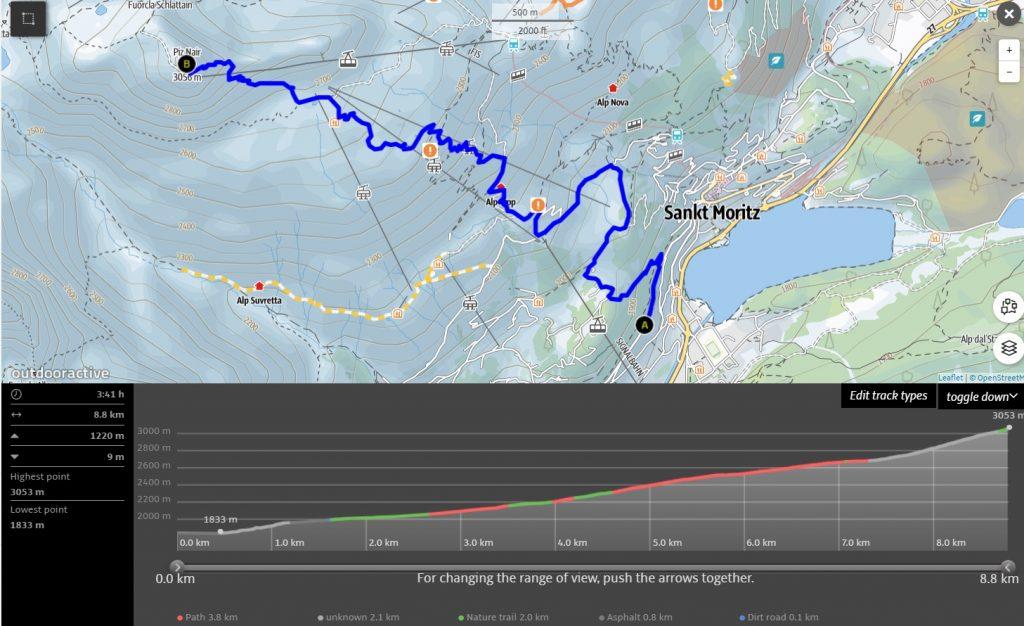 St Moritz hike to Piz Nair