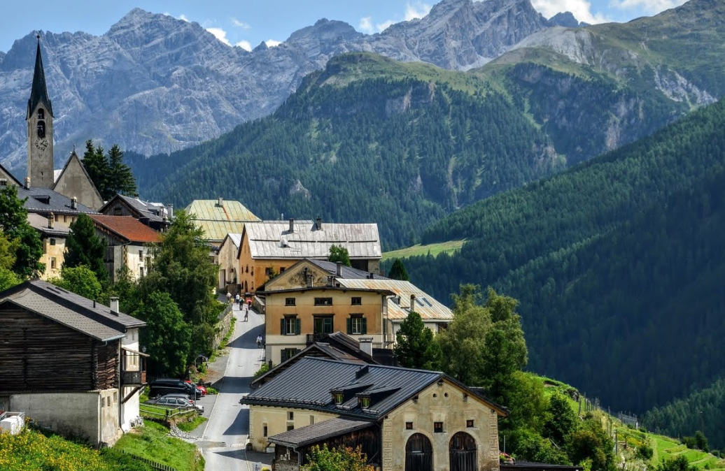 Guarda village in Switzerland