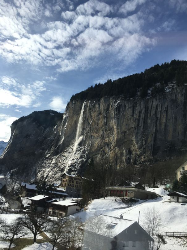 Lauterbrunnen view from the train