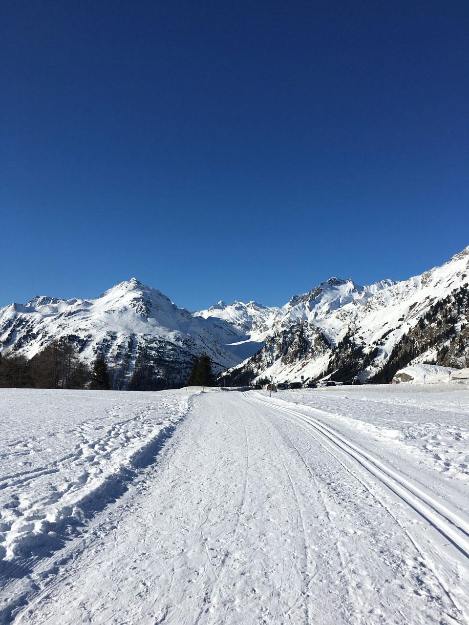 Maloja pass skiing