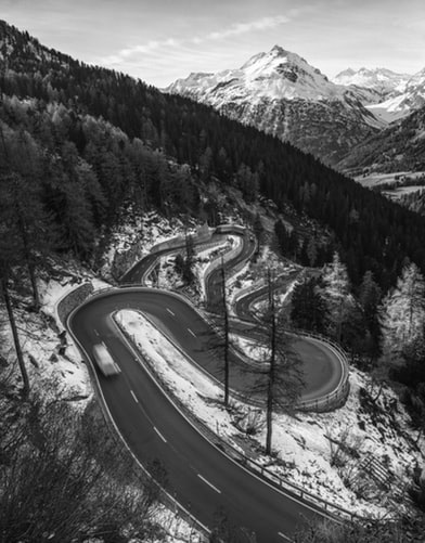 Maloja pass winter