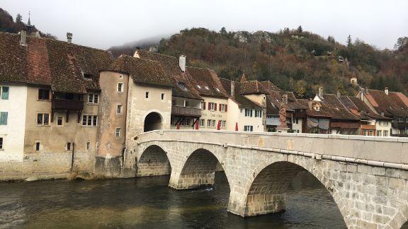Saint Ursanne bridge, Switzerland