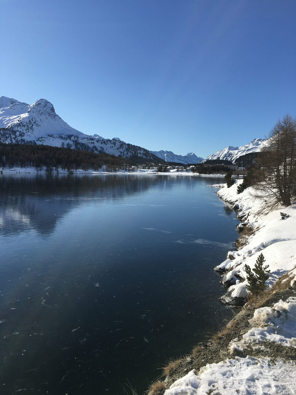 Silsersee in Winter