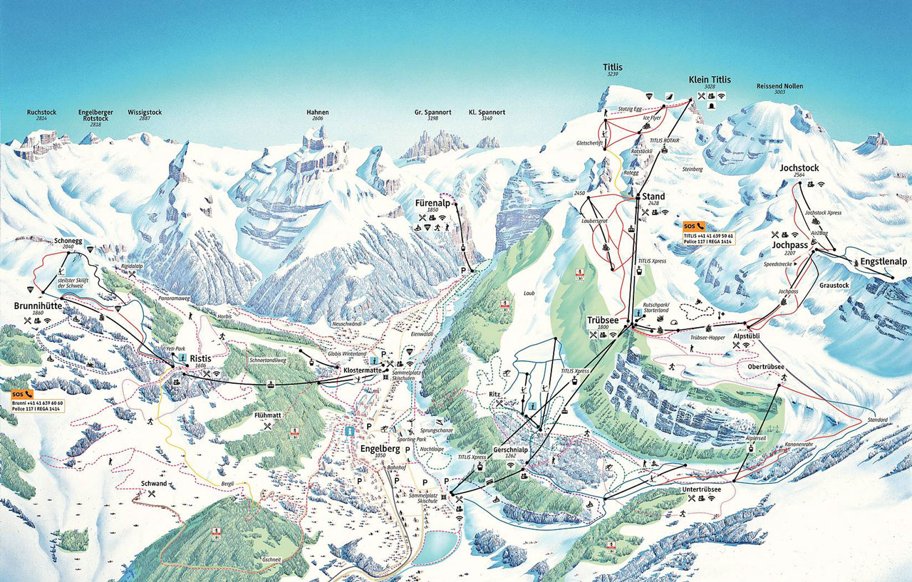 Titlis map
