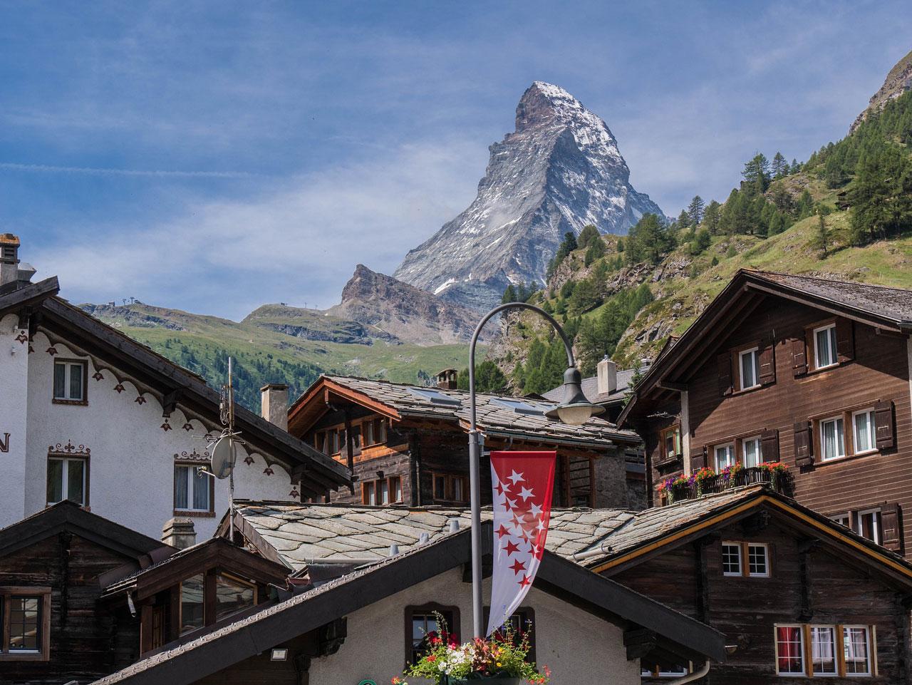 Zermatt view to Matterhorn