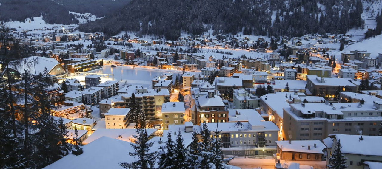 Davos in winter, Switzerland