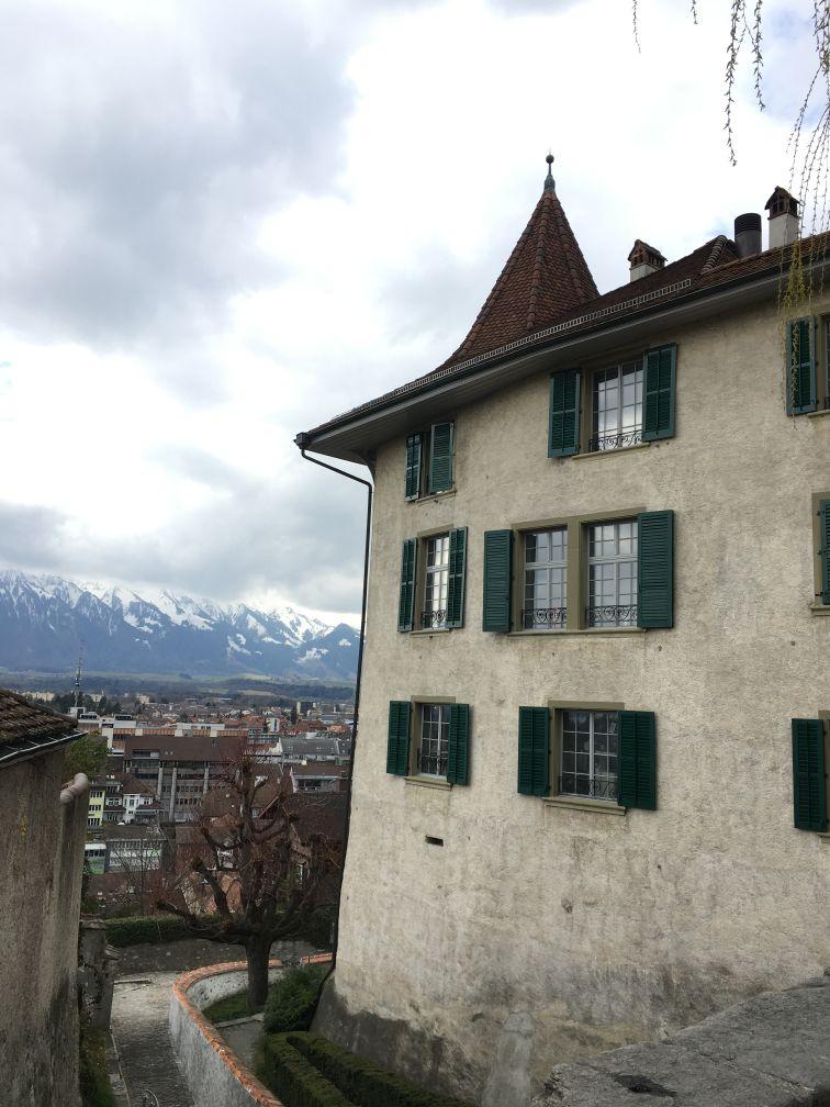 Thun and surrounding mountains