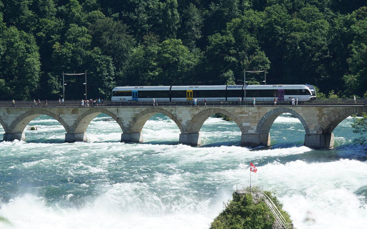 Rhine Falls train