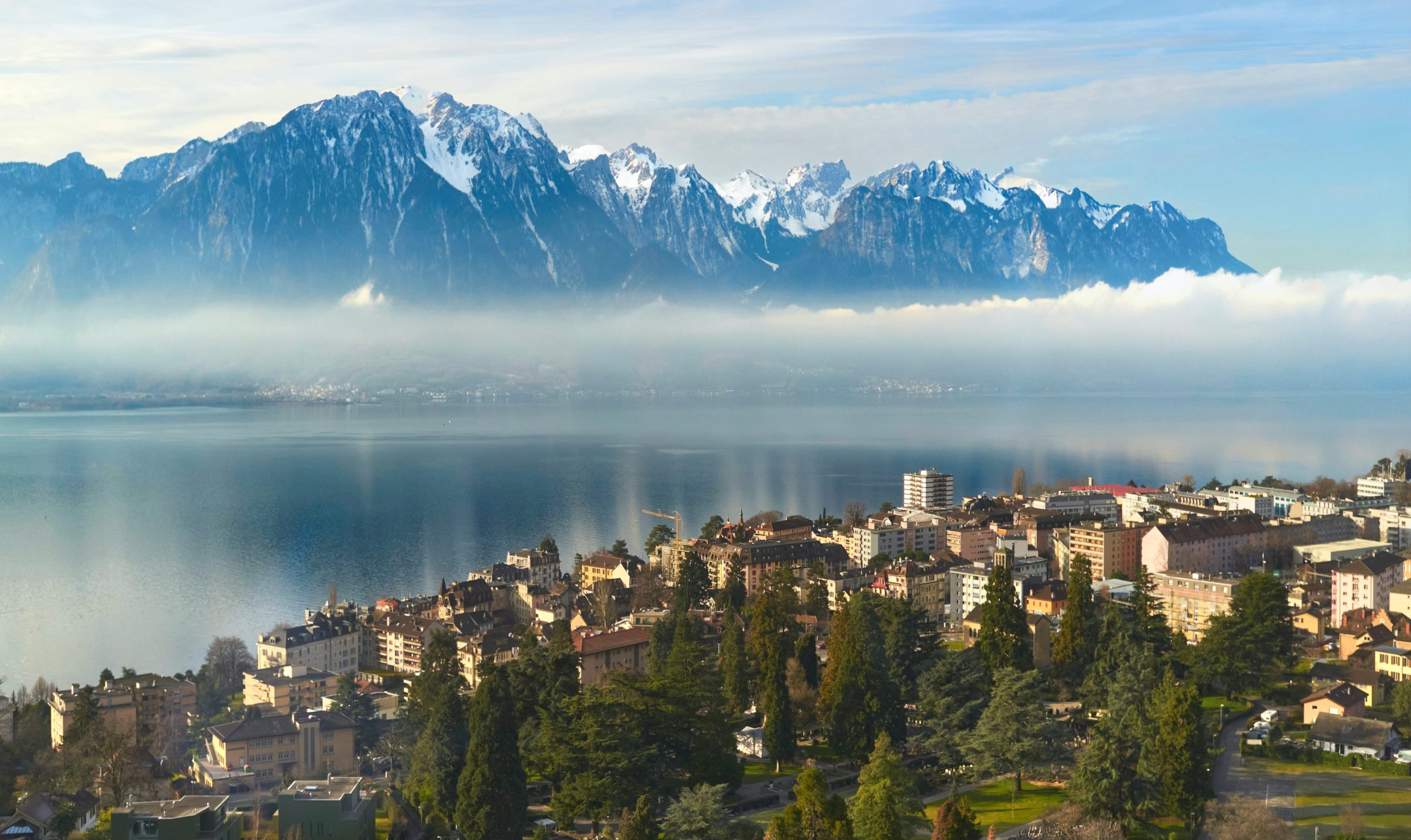 Montreux Old Town From Above