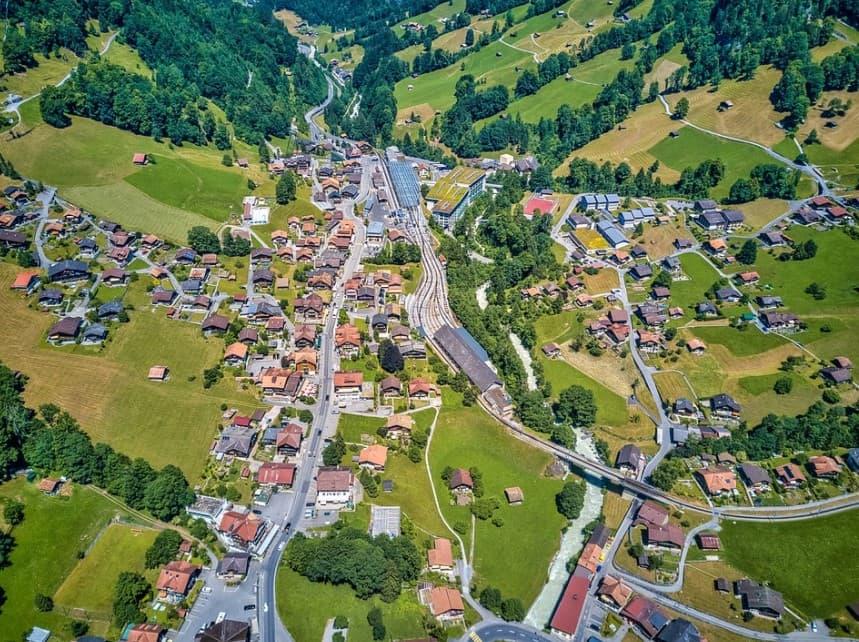Lauterbrunnen from above
