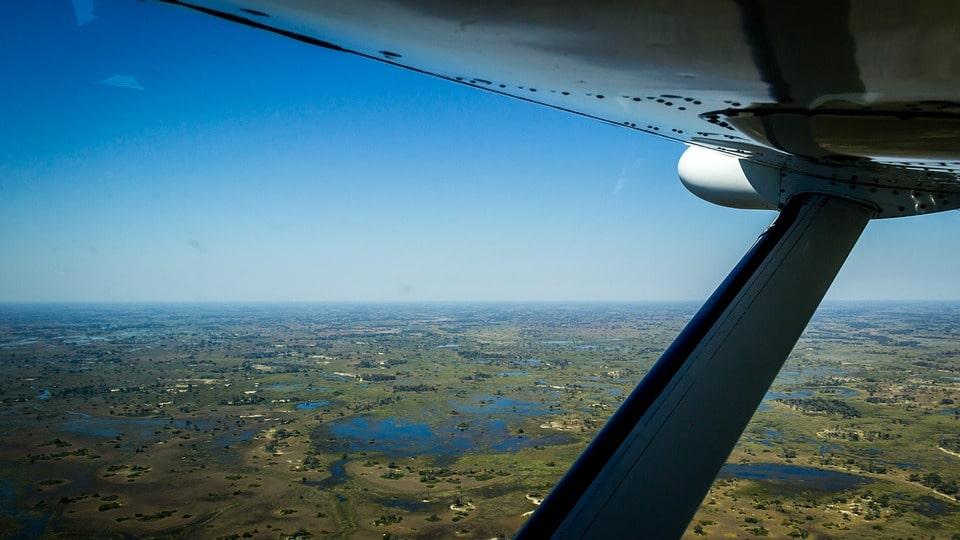 Flying to Kilimanjaro